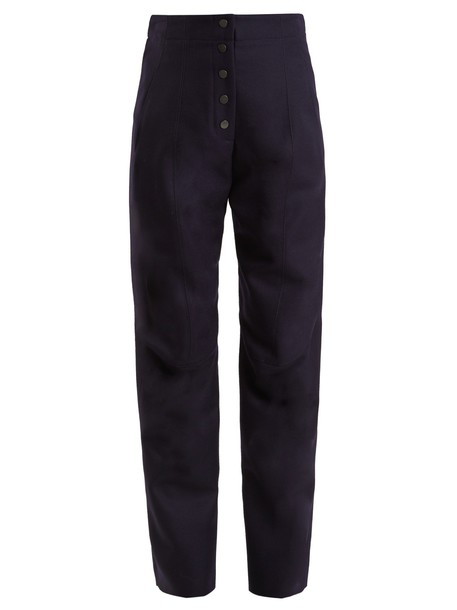 Stella McCartney high wool navy pants