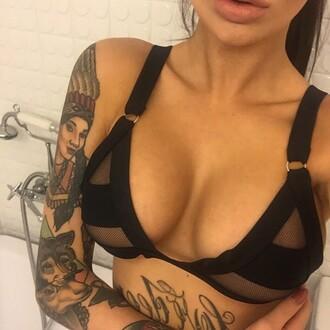 top bikini bra mesh