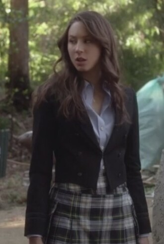 blazer troian bellisario pretty little liars spencer hastings plaid skirt