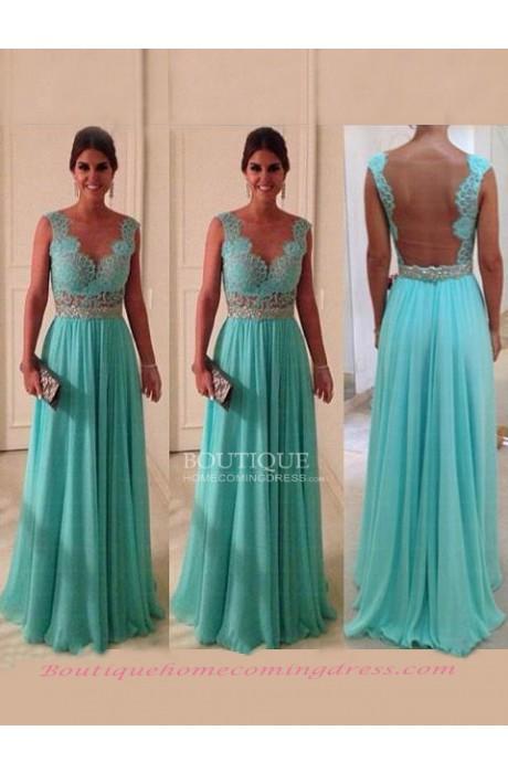 Line chiffon 2015 prom dress