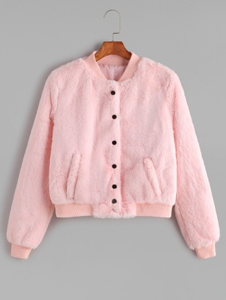 jacket girly girl girly wishlist pink fur fur coat fur jacket fuzzy coat cute button up