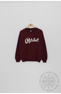 Ratchet Burgundy & White Sweater - Ratchet Clothing