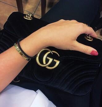 bag suede gucci black