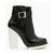 Jeffrey Campbell Black White Ochoa Bootie