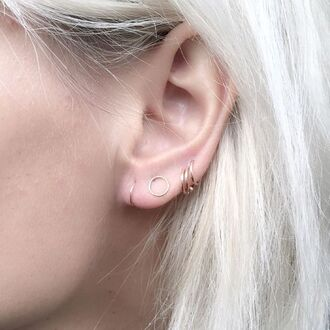 jewels hoop earrings ear piercings minimalist jewelry