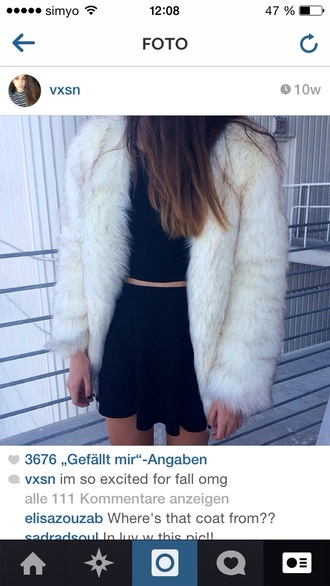 in black too ? important instagram vxsn fur coat vintage fur coat chic fall outfits autumn/winter coat
