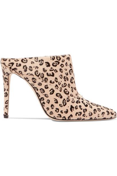Altuzarra - Davidson Leopard-print Calf Hair Mules - Neutral