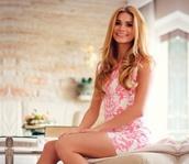 dress,pink,white,pamela,blonde hair