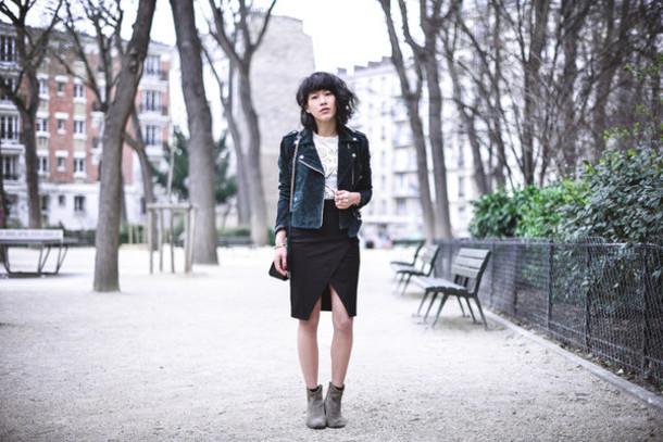 le dressing de leeloo blogger asymmetrical skirt black skirt perfecto