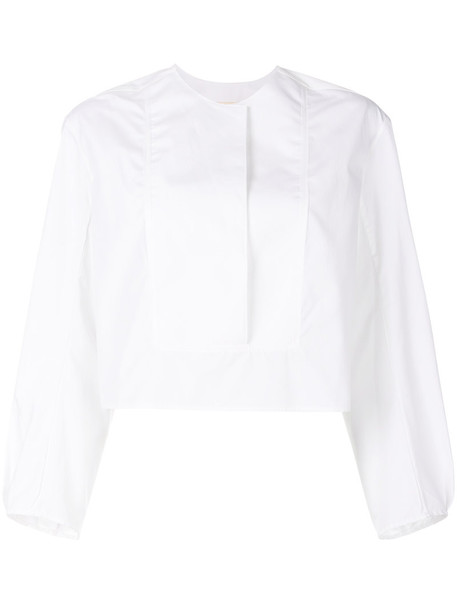 KHAITE top women white cotton