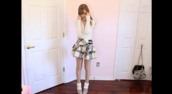 plaid skirt,skirt