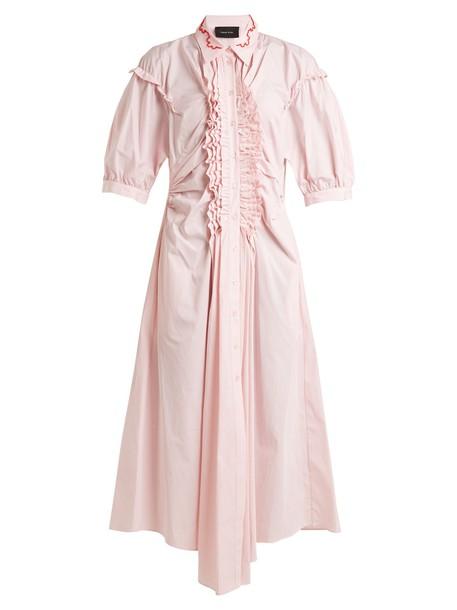 Simone Rocha dress midi dress ruffle midi cotton pink