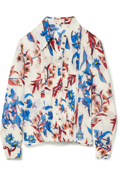 ETRO blouse white silk top