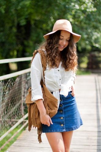 kolorowa dusza blogger shirt skirt jewels hat shoes
