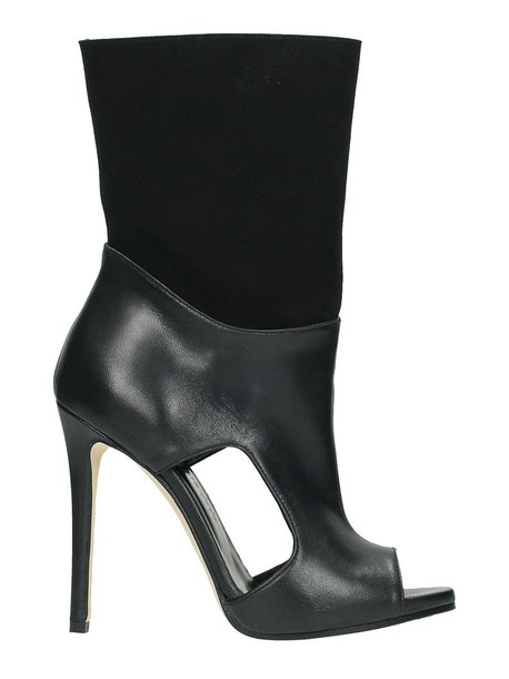 leather suede black shoes