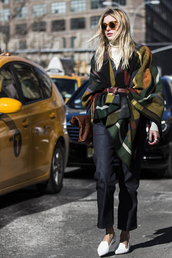 camille over the rainbow,blogger,jeans,blanket scarf,waist belt,jacket