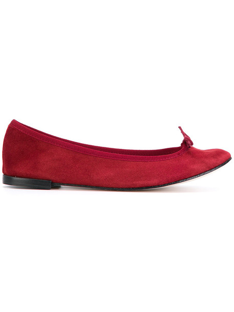 bow women leather cotton suede red shoes
