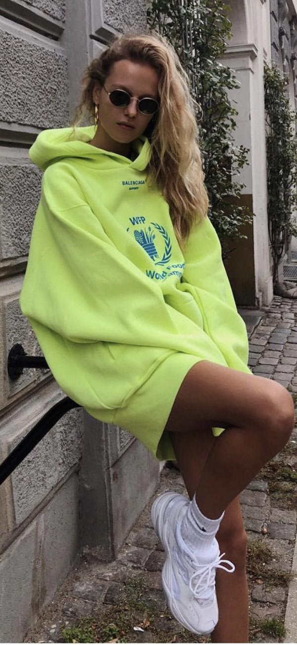 sweater neon hoodie