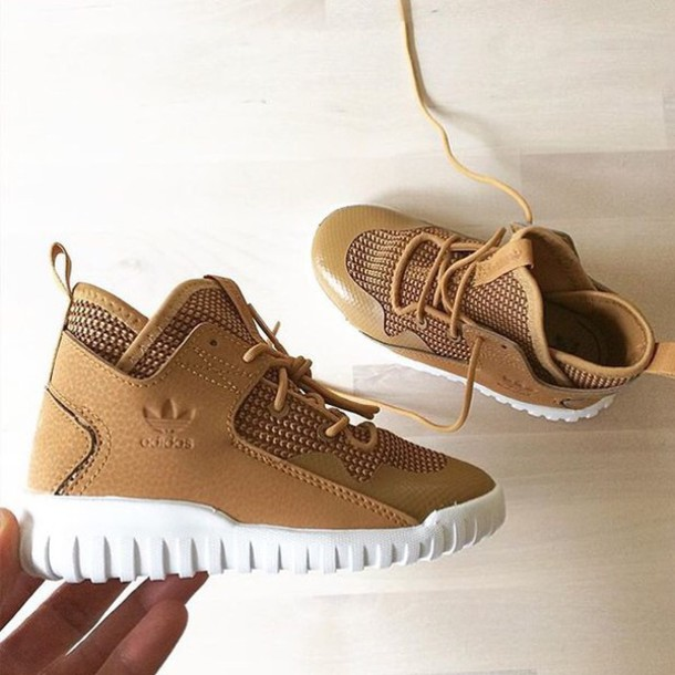 shoes adidas infant tan white mid 48e62a1fc5bc