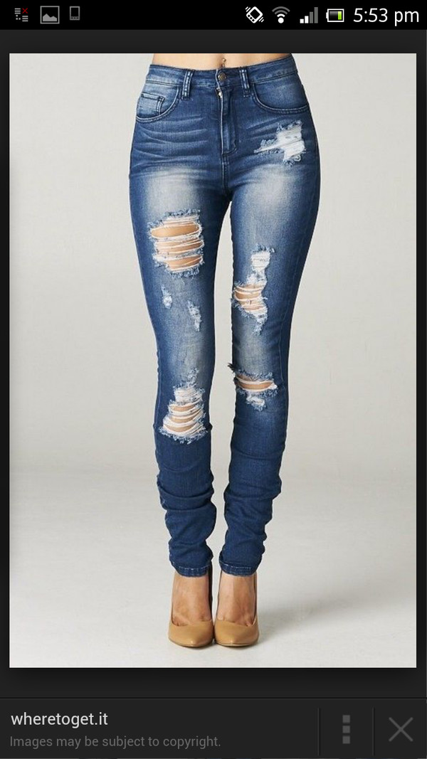 jeans blue ripped skinny jeans