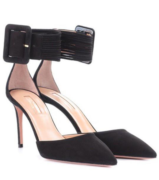 Aquazzura suede pumps pumps suede black shoes