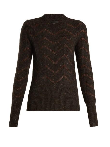 Isabel Marant sweater embroidered dark grey