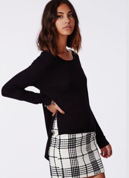 sweater slit