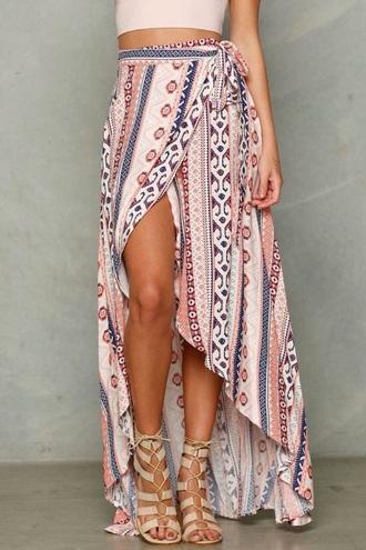 skirt wrap skirt crop tops sandals