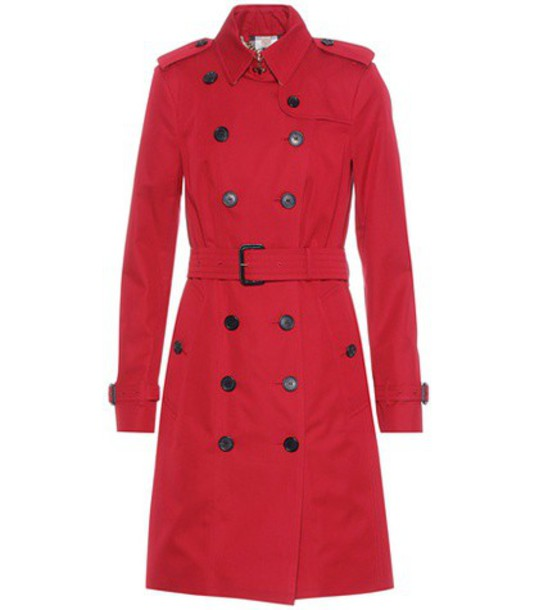 Burberry coat trench coat red