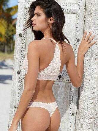 underwear bra bralette lingerie sexy lingerie lace lingerie sara sampaio model victoria's secret model victoria's secret