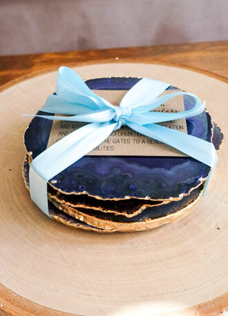 home accessory dinnerware kitchen blue royal blue wedding gold coaster valentines day gift idea blue wedding accessory
