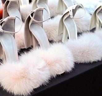shoes heels fur heels alexander wang