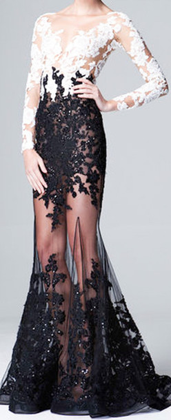 dress black transparent