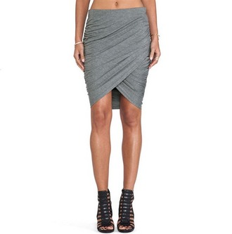 shirt grey grey skirt slim skirt casual skirt asymmetrical bodycon skirt grey slim skirt asymmetrical skirt streetstyle