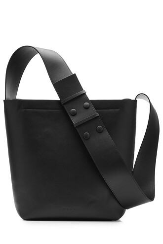 bag messenger bag leather black
