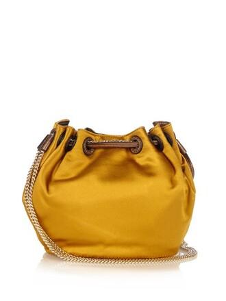 mini love bag bucket bag dark yellow