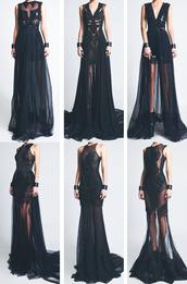dress,black,maxi,mesh,lace,fashion,lace dress,sublime
