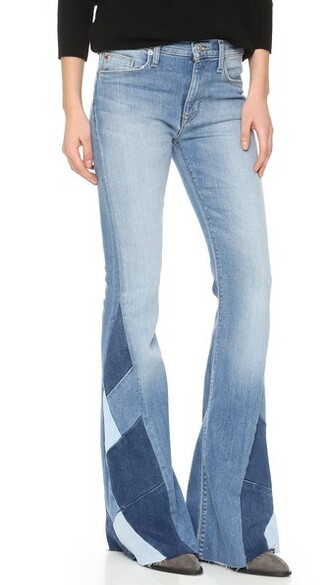 jeans flare jeans patchwork flare