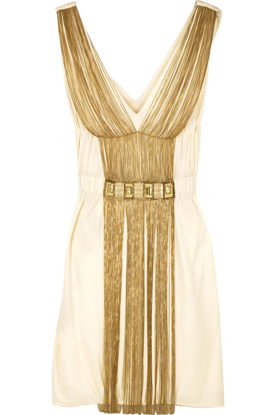 Chain-embellished dress   | Alberta Ferretti | THE OUTNET