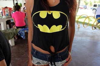 tank top batman findit love you thanks xoxo cute t-shirt shirt girly teenagers
