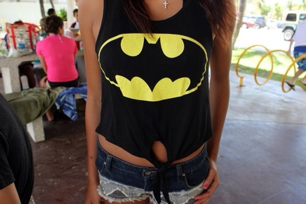 tank top batman findit love you thanks xoxo cute tank top t-shirt shirt girly teenagers