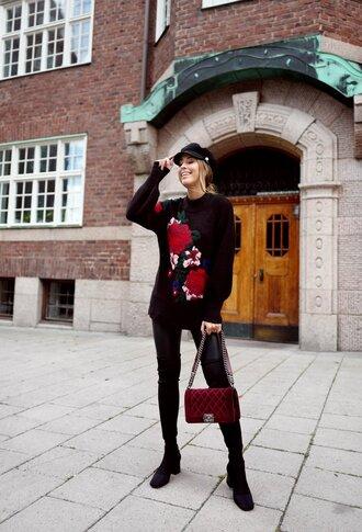 kenza blogger pants blouse bag jewels