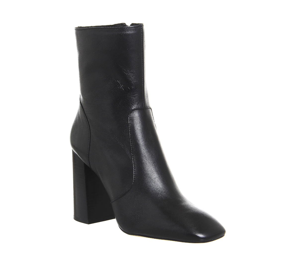 Cut Boots Black Leather - Ankle Boots