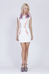 dress,embroided anglaise dress by  ladakh,white dress,embroided dress