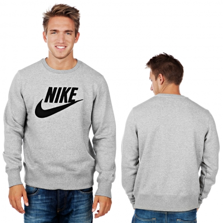 Nike PL Brushed Crew 2 Sweatshirt Dark Grey Heather Black | Defshop Online Shop