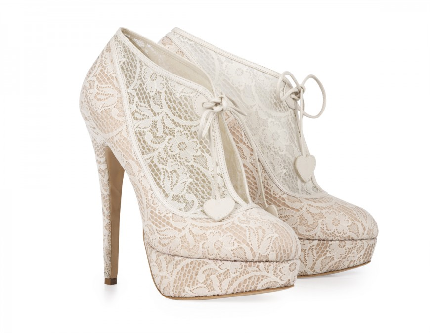 Charlotte olympia minerva lace platform booties heels [charlotte olympia minerva]