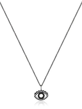 mini necklace black jewels