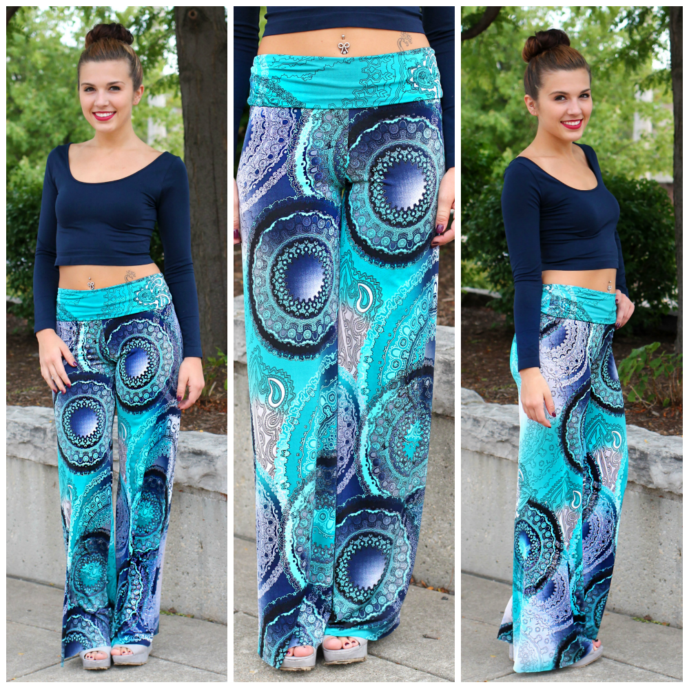 Boho Printed Palazzo Pants | uoionline.com: Women's Clothing Boutique