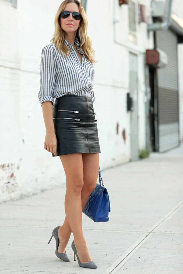 brooklyn blonde blogger skirt shoes