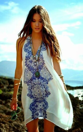 dress sundress print
